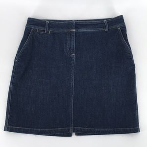 Lands End Denim Jean Skirt